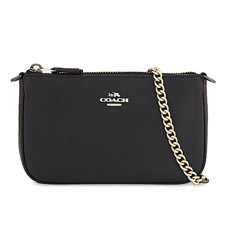 COACH Coach x Selena Gomez Nolita leather wristlet (Li/selena+black+cherry