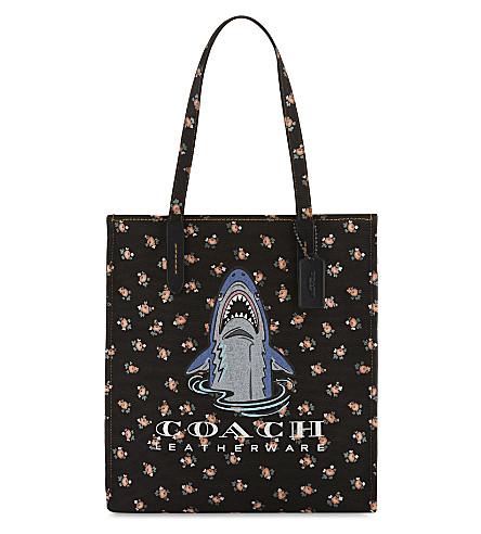 COACH Sharky canvas tote bag (Bp/black+multi