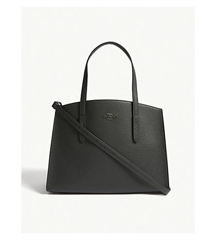 COACH Charlie leather carryall shoulder bag (Dk/ivy
