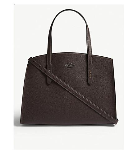 COACH Charlie leather carryall shoulder bag (Dk/oxblood