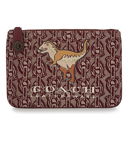 COACH Rexy turnlock canvas wristlet (Bp/wine