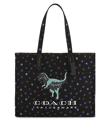 COACH Rexy canvas tote bag (Bp/black+multi