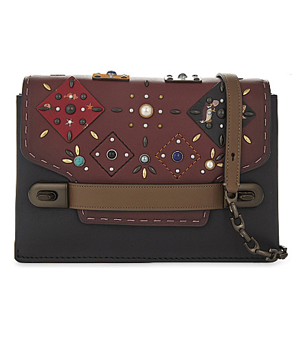 COACH Swagger patchwork leather cross-body bag (Bp/bordeaux+multi