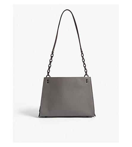 COACH Rogue leather shoulder bag (Bp/heather+grey
