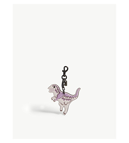 Rexy dinosaur leather bag charm