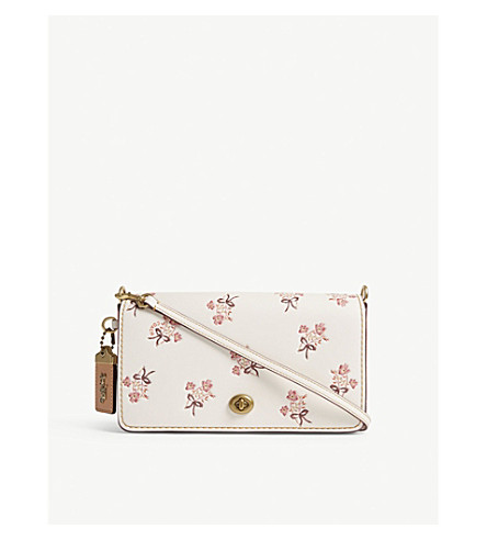 COACH Dinky floral leather cross-body bag (Ol/chalk