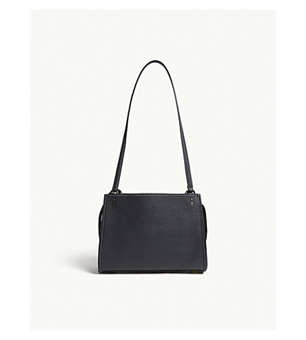 COACH Rogue leather shoulder bag (Bp/midnight+navy