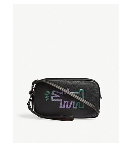 COACH Glitter grained leather cross-body bag (Bp/black