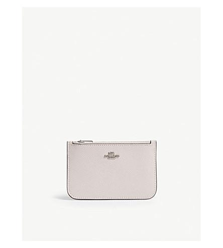 Colour block leather card case