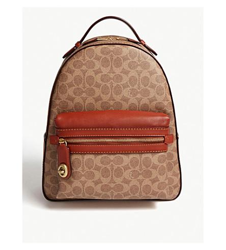 ab04285e22049 COACH Campus backpack (B4 tan+rust
