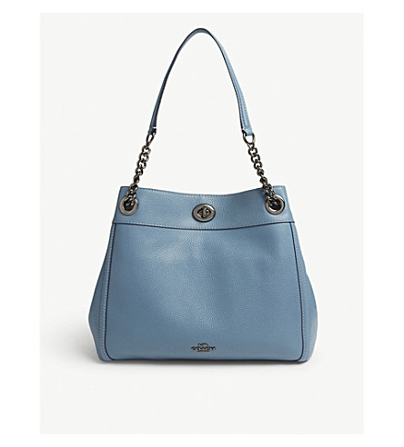 COACH Edie leather shoulder bag (Dk/chambray
