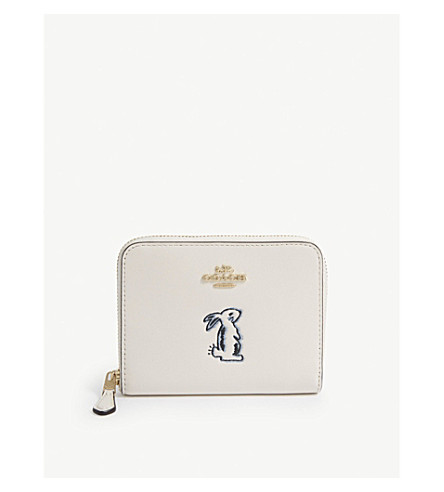 874976a4d9a0 COACH - Coach x Selena small zip-around wallet with bunny ...