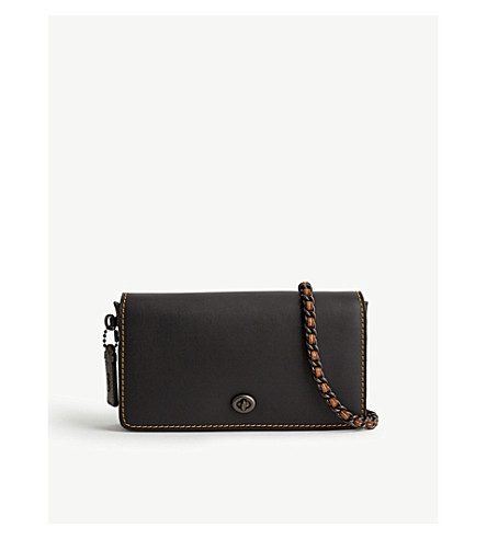 COACH Dinky leather cross-body bag (Black