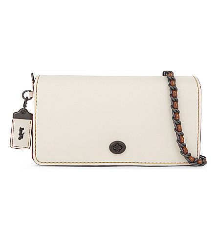 COACH Dinky leather cross-body bag (Chalk