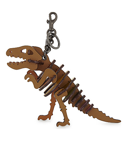 COACH Dinosaur medium rexy bag charm (Saddle+rainbow