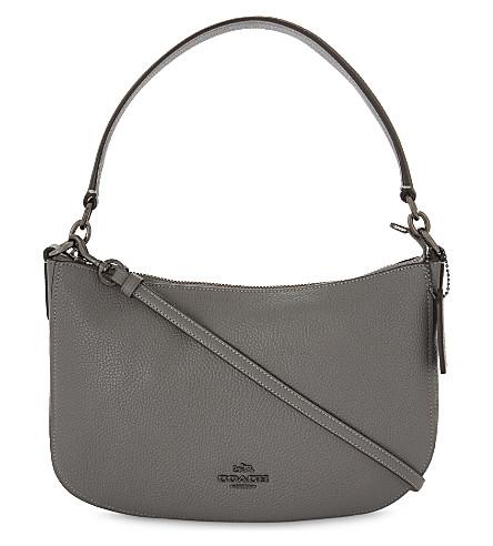COACH Chelsea leather cross-body bag (Dk/heather+grey