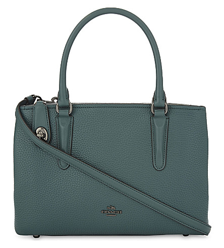 COACH Brooklyn 28 shoulder bag (Dark+turquoise