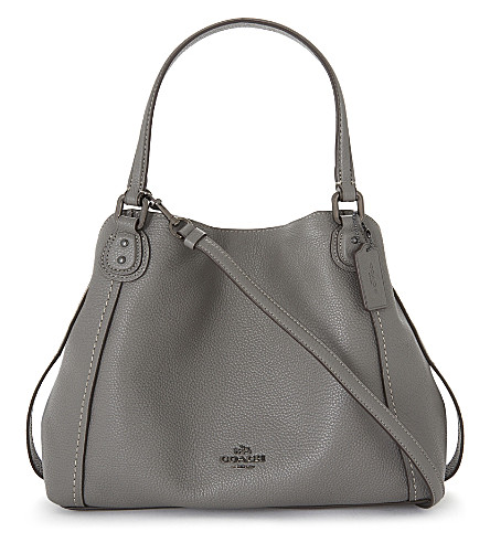 COACH Coach Edie 28 shoulder bag (Dk/heather+grey