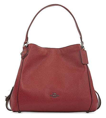 COACH Edie 31 leather shoulder bag (Dk/cherry