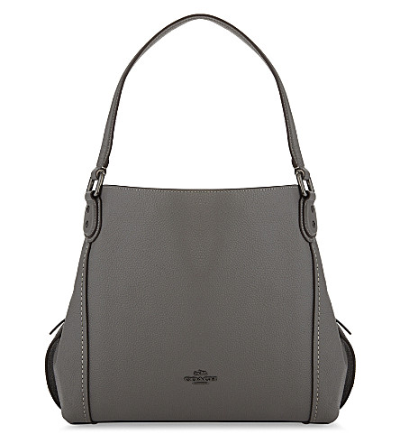 COACH Edie 31 leather shoulder bag (Dk/heather+grey