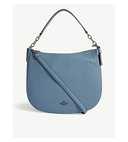 COACH Chelsea leather hobo 32 bag (Dk/chambray