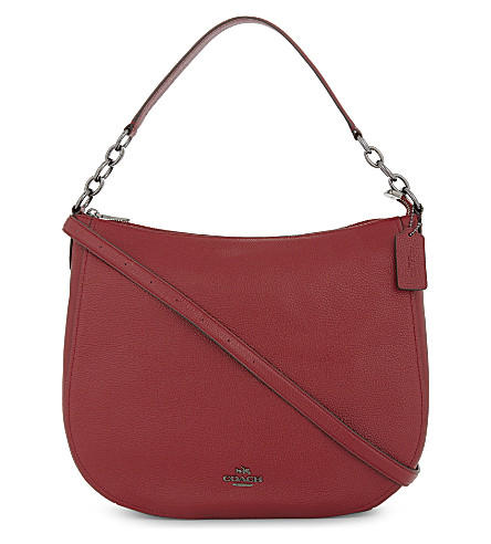 COACH Chelsea leather hobo 32 bag (Dk/cherry