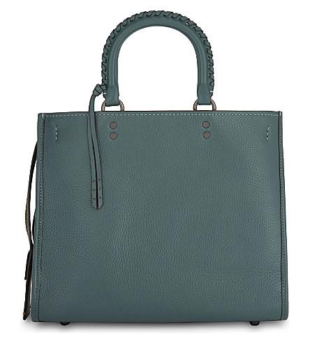 COACH Rogue leather shoulder bag (Bp/dark+turquoise