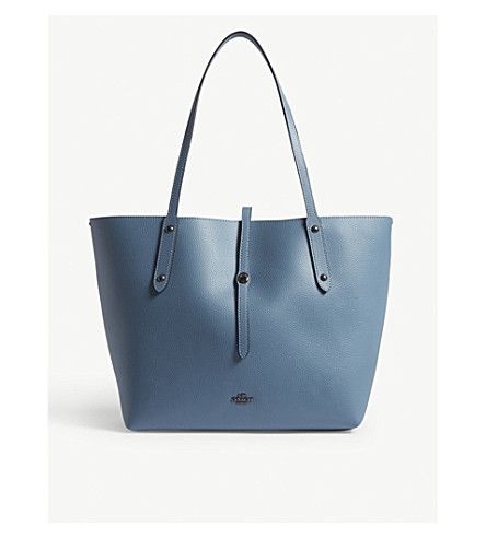 COACH Market leather tote (Dk/chambray