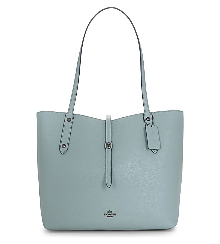 COACH Market leather tote (Dk/cloud+mineral