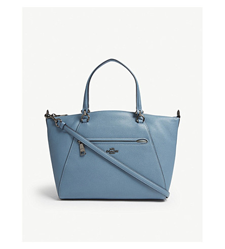 COACH Praire leather cross-body bag (Dk/chambray