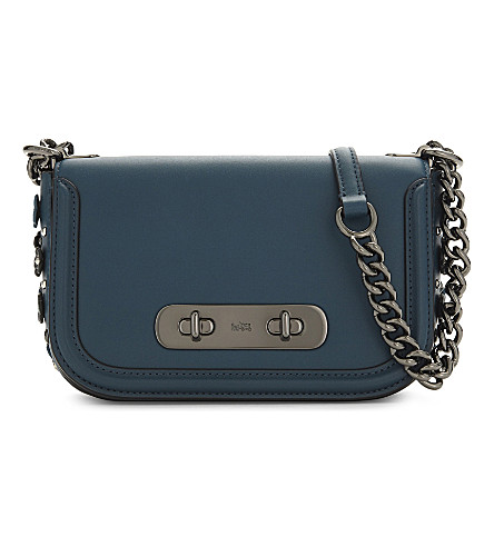 COACH Swagger leather cross-body bag (Dk/mineral
