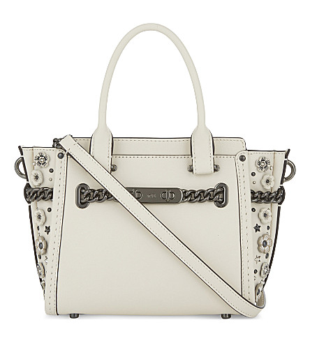 COACH Swagger 21 leather shoulder bag (Dk/chalk