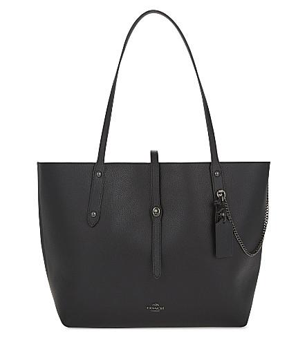 COACH Market leather tote (Dk/black+black+multi