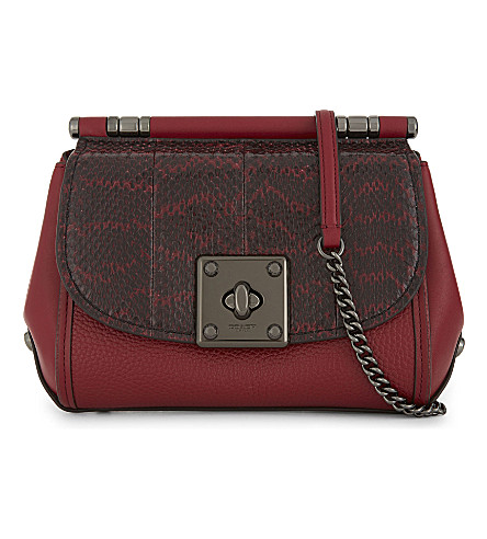 COACH Drifter reptile cross-body bag (Dk/cherry