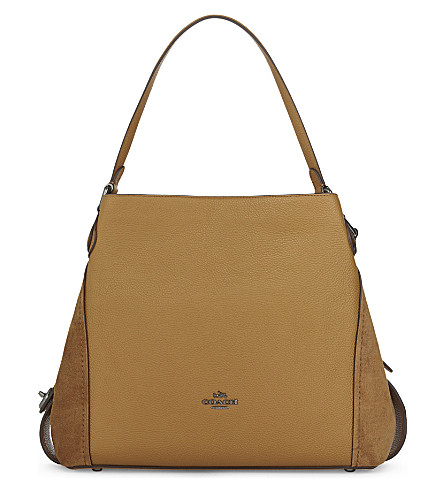 COACH Edie 31 leather tote (Dk/light+saddle