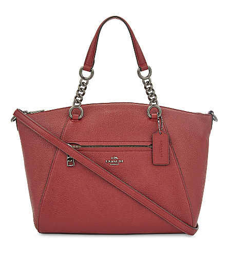 COACH Prairie leather shoulder bag (Dk/cherry