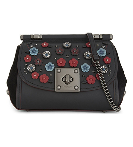 COACH Drifter floral cross-body bag (Dk/black+multi