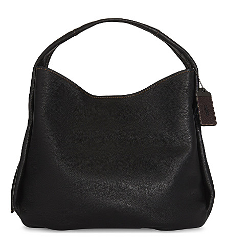 COACH Bandit glovetanned leather hobo (Black