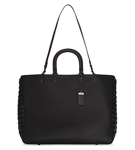 COACH Link leather Rogue shoulder bag (Black