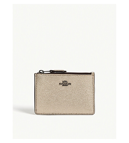 COACH Mini ID skinny leather wallet