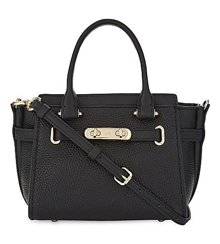 COACH Swagger 21 pebbled leather shoulder bag (Black