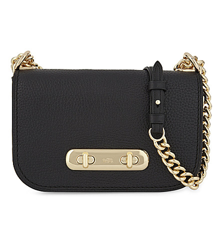COACH Swagger 20 pebbled leather cross-body bag (Black