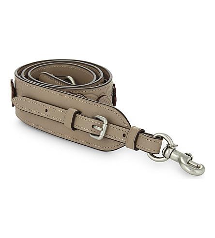 COACH Tearose leather bag strap (Stone