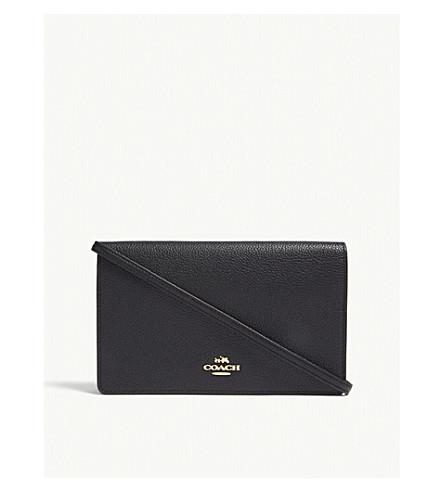 COACH Pebbled leather wallet-on-chain (Li/black