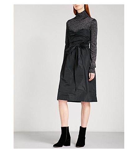 ALEXACHUNG Sweetheart strapless shell dress (Black