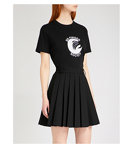 ALEXACHUNG Six Finger Society cotton T-shirt (Black