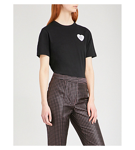 ALEXACHUNG Lonely Hearts Club cotton-jersey T-shirt (Black