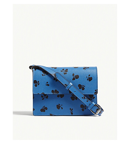 GANNI Gallery butterfly print leather cross-body bag (Marina