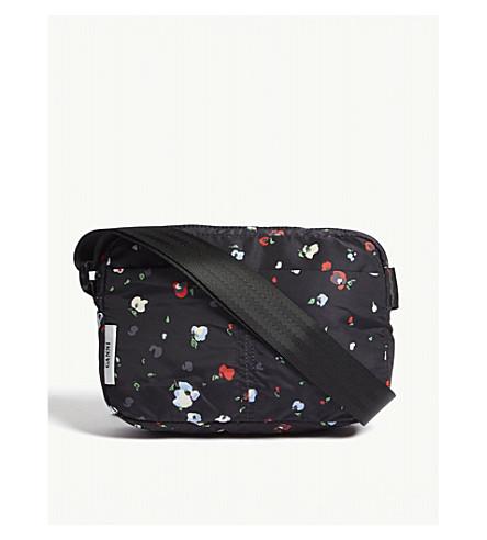 GANNI Fairmont floral nylon cross-body bag (Black