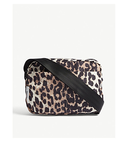 GANNI Fairmont floral nylon cross-body bag Leopard Finishline Online Sale Manchester 9XSetAbQ